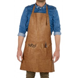BARBER APRON LEATHER
